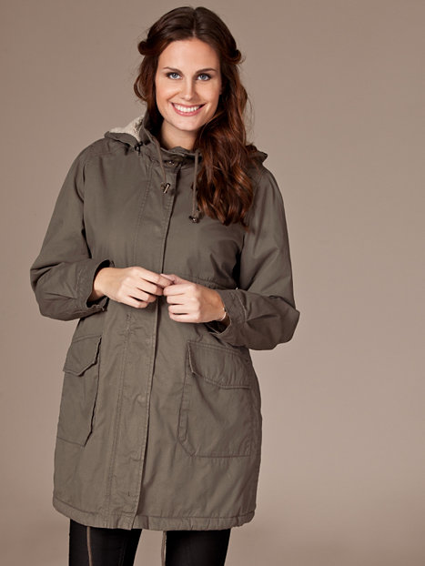 lisa parka coat mama licious grey jackets and coats clothing women uk. Black Bedroom Furniture Sets. Home Design Ideas