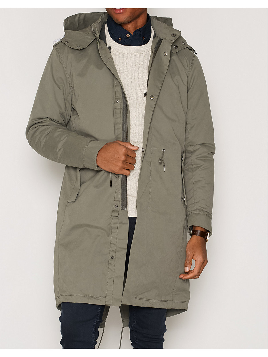 shnfishtail parka selected homme green jackets