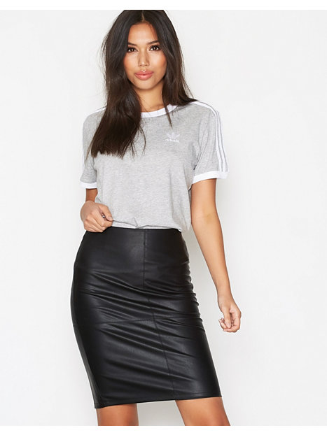 onlticket faux leather skirt otw no only black