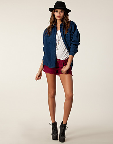 BYXOR & SHORTS - FREE PEOPLE / RAILRD CUTOFF SHORT - NELLY.COM
