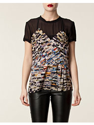 Matthew Williamson Draped Bust Tshirt