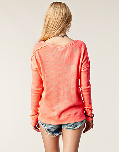TRÖJOR - FREE PEOPLE / SOLID WASHED PULLOVER - NELLY.COM