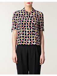 Sonia by Sonia Rykiel Plaid Printed Blouse