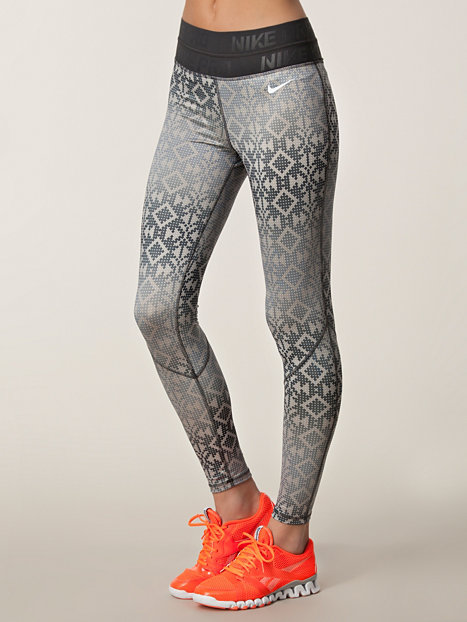 pro hyperwarm tight print nike black white tights. Black Bedroom Furniture Sets. Home Design Ideas