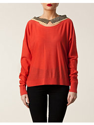 Sonia by Sonia Rykiel Silk Collar Sweater