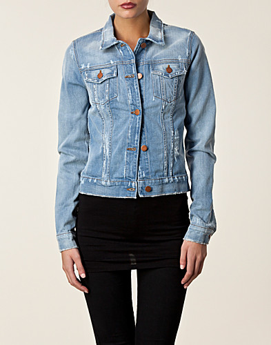 JACKETS AND COATS - J BRAND / SLIM FITTED DENIM JACKET - NELLY.COM