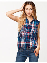 Denim & Supply Ralph Lauren Fringed Sleeveless Shirt