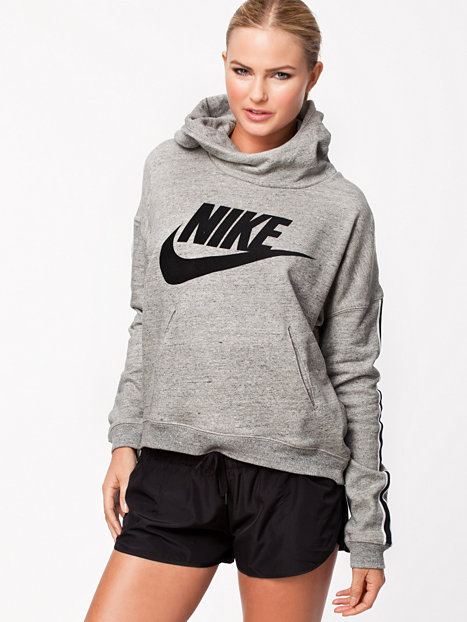 nike district 72 hoody nike dunkelgrau pullover sportbekleidung damen mode. Black Bedroom Furniture Sets. Home Design Ideas