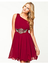 Little Mistress One Shoulder Emb Waist Dress