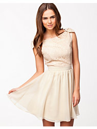 Little Mistress Lace Top Chiffon Dress