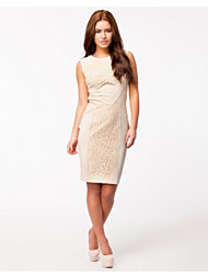 Little Mistress Floral Lace Panel Detail Bodycon Dress