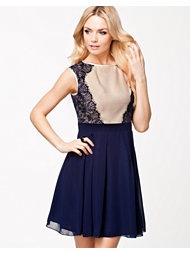 Little Mistress Lace Pannel Chiffon Dress