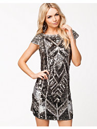 Little Mistress Heavily Embellished Sequin S/S Dress