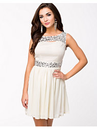 Aura Boutique Embellished Chiffon Dress