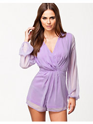 Ax Paris Wrap Front Short Chiffon Playsuit
