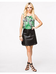 Ax Paris PU Laser Cut Out Skirt