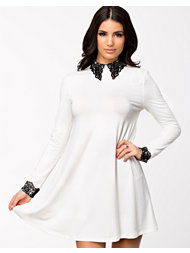 Ax Paris Crochet Collar And Cuff Swing Dress