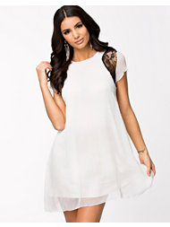 Ax Paris Lace Insert S/S Dress