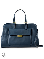 Tommy Hilfiger Edie Leather Square Tote