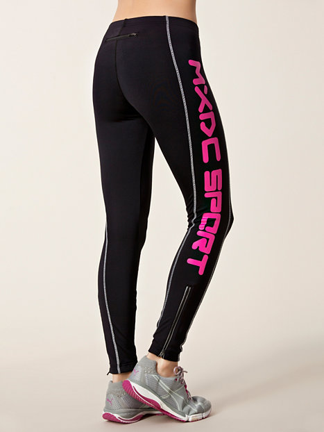 zip big logo tights mxdc sport pink tights sports. Black Bedroom Furniture Sets. Home Design Ideas