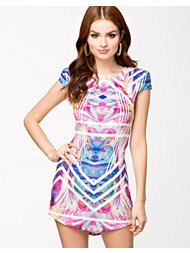 Ginger Fizz Rainbow Rush Bodycon Dress