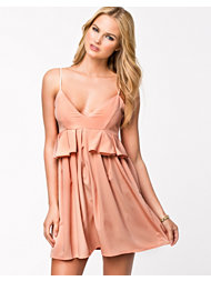 Oh My Love Peplum Side Frill Dress