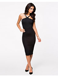 Oh My Love Strappy Midi Bodycon Dress