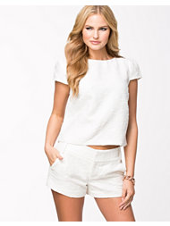 Alice & Olivia Boxy Cap Sleeve Top