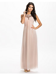 Little Mistress Emb Grecian Maxi Dress