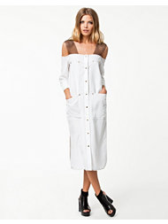 BACK Cut Off Shirt Dress