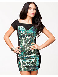 Lashes Of London Sequin Bardot Dress