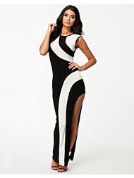 Lasula Flirty Monochrome Maxi Dress