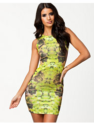 Lasula Solar Yellow Printed Dress