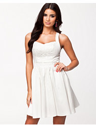 Oneness Lace Front Skater Dress