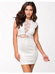 Oneness Contrast Lace Dress