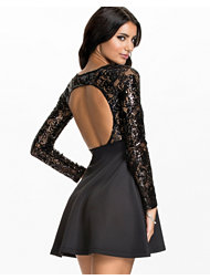 Oneness Sequin Lace Skater Dress