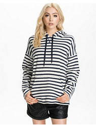 T By Alexander Wang Stripe French Terry Hooded Sweatshirt