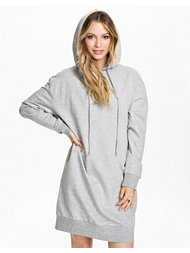 Estradeur Solid Hooded Dress