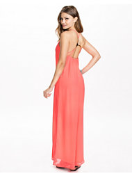 Oh My Love Gold Triangle Back Maxi Dress