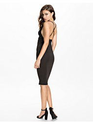 Oh My Love Plunge Bodycon Midi Dress