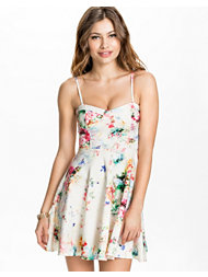 Oh My Love Summer Floral Scuba Skater Dress