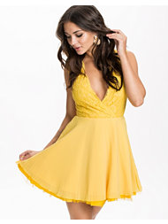 Ax Paris Lace Detail Skater Dress
