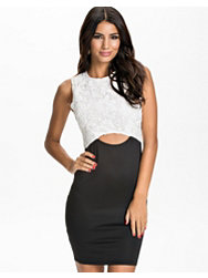 Ax Paris Cutout Waist Bodycon Lace Dress