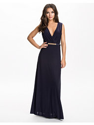 Ax Paris Wrap Front Belt Maxi Dress