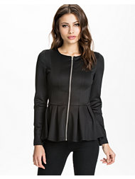 Ax Paris Zip Front Peplum Jacket