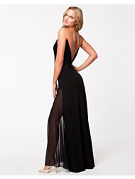DKNY Runway Maxi V-neck Illusi