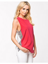 DKNY Color Blocked Scoopneck T