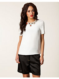 Jason Wu S/S Jeweled Silk Tee