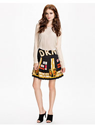 DKNY Bonded Pleated Asym Skirt