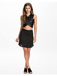 T By Alexander Wang Stretch Rayon Knit A-line Mini Skirt